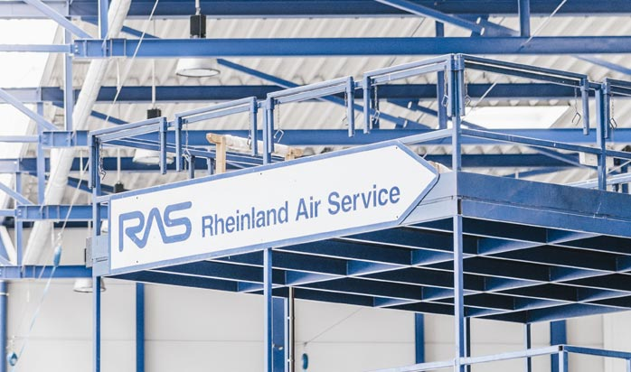 Rheinland Air Service, Hangar in Mönchengladbach Europe, Germany,