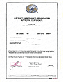 SACCA AMO APPROVAL CERTIFICATE - Issued by the Ministry of Communication and Transport, Directorate of Civil Aviation South Africa
